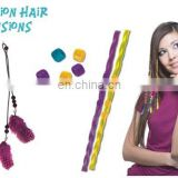 2015 new fashion DIY toy set feather clip-in hair extension for kids -61001