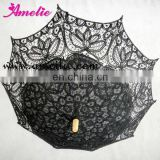 Gothic style black lace parasol umbrella