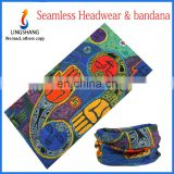 LINGSHANG fashionable customized 100% polyester elastic seamless outdoor multi headband bandana