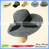 Hot Sale Fashion Lady Straw Hat With Bowknot Summer Fedora hat