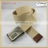 New Fashionable Beige Casual Fabric Belt for Men