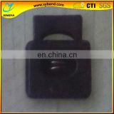 single hole square shape plastic drawstring stopper
