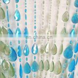 Blue/Lime Raindrop Doorway Beaded Curtains