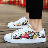 Graffiti design couple casual shoes
