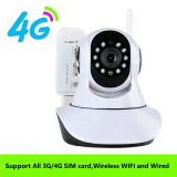 4G SIM card wireless and wired wifi 128G SD two ways voice IP P2P PTZ camera with remote control via APP