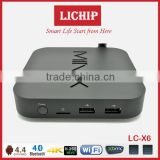 Smart wifi android 4.4 A5 chip 4K 1080P LC- X6 TV box