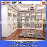 Bedroom furniture simple design for customizable L shape wall open wardrobe with white color                                                                         Quality Choice
