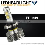New design auto h4 led headlight bulbs high power exclusive ETI chip led motorcycle headlight for trucks ford vw toyota