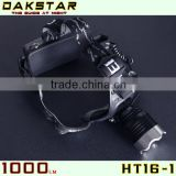 DAKSTAR Camping Items HT16-1 XML T6 1000LM 18650 CREE Aluminum Rechargeable LED Headlamp