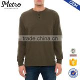 2016 Wholesale Custom Mens Henley Sleeve Pocket Sweatshirts