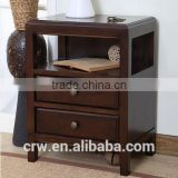 Y-1804 American style solid wood bedside table with drawers for storage