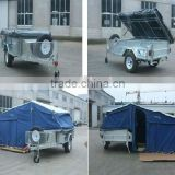 heavy duty steel checker plate camper trailer and camping trailer with T/C canvas top tent