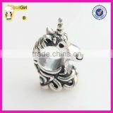 Unicorn Charm Beads 925 sterling silver Horse Beads for Bracelet and necklace