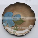 Flower Pattern Hand Painted Ceramic Plates