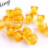 Orange Color Bulk Price Chunky Foursquare Acrylic Transparent Clear Plastic Beads in Beads for Jewelry Decorative Making