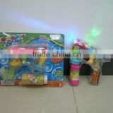 LED Light Up Transparent Bubble Gun for Hot Summer