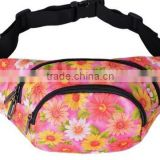 Factory wholesale hot fashion ready stock printed waist bag for sport and leisure