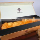 luxury cardboard box paper wine box wooden hot stamping silk printing single bottle wine box