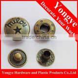 Brass press stud button