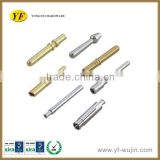 CNC processing Electrical Plug Brass Pin/ Insert Plug Pin with Slots Nickle/Chrome/Silver/Gold Plating Available