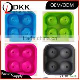 DKK-B002 coloful safe food grade and safe ice cube tray , custom ice cube molds to make own ice cream