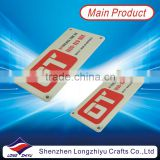 Zinc alloy die cast nameplates,enamel metal shiny chrome plated label plate with your own company logo for products