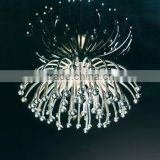 Chrysanthemum lamp Chrome Chandeliers Pendant light For Home Hotel Restaurant Decoration