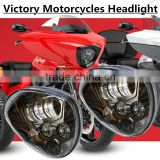 Wholesale 2016 Top Quality Aluminum housing IP67 LED Headlight for Polaris Victory Motorcycle