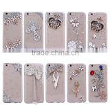 Luxury Crystal strass Stones Diamond hard pc case for iphone 6                                                                         Quality Choice