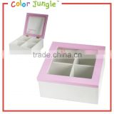 Jewelry box with mirrow for kids, square shaped boxes for jewelry wholesale