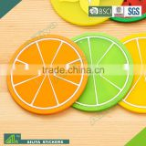 promotional advertising full color printing anti-slide custom logo round promotion absorbent pallet coaster