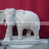 Stone Elephant Garden Statues Hand Carving Marble Stone Sculpture For Garden, Hotel And Resort