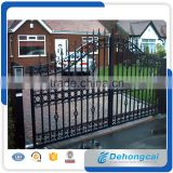 Wholesale Customized Powder Coated Galvanized Iron Gate Design for home/garden/factory/school
