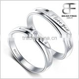 "Infinity Cubic Zirconia 925 Sterling Silver "" I love you 1314"" Couples Rings for Engagement"