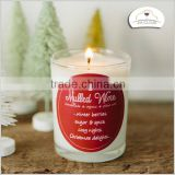 christmas gift with red decal and print decorative glass candle jars