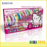 Crazy make friendship rubber band bracelet crazy rainbowe loom band kit in pink box