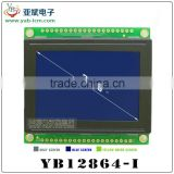 128X64 LCD Module with KS0108 controller Blue/ yellow-green Screen,12864 graphic lcd module for LED Backlight