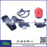 2015 Trade Assurance Supplier HJ-031 Red light 4 LED Rechargeable Safety USB Bike Rear Light