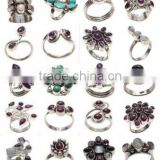 Manufacturer exporters of Indian handcrafted Gemstone silver jewelry India