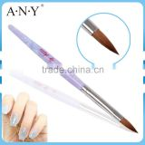 ANY Cheap Nail Art Care Acrylic Handle Round Nail Sable Acrylic Brushes
