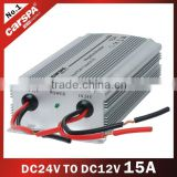24VDC to 12VDC 15A Power Converter, Car Battery Power Converter
