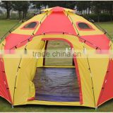 Waterproof Big Single Wall Outdoor 8 Angles Camping Dome Tent Family Tent Suitable For 5-8 Persons