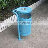 Tilting forward street litter bin metal outdoor waste bin                                                                         Quality Choice