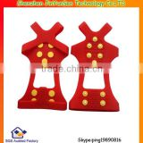 Red Anti Slip rubber ice cleats