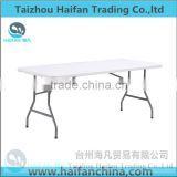 hot sell 6FT blow molding plastic dining table for restaurant/high quality dining plastic table with removable legs