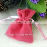 Drawstring Velvet Jewellery Pouch Bag Made In China