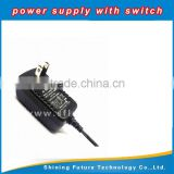 DC12V 1A US rules in the regulation black button lamp switching power supply 12W power adapter