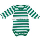 Hot sale 2016 spring summer new style baby girl romper long sleeve stripe baby romper cheap easter baby girls clothing sets
