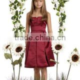 Strapless red satin Junior bridesmaid dress 2011 bridesmaid dress manufacturer/factory 20800