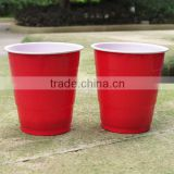10oz/12oz/15oz Red/orange Color Double Tone colorful Plastic Beer Pong Cup